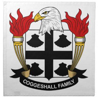 Escudo de la familia de Coggeshall Servilleta