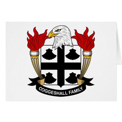 Escudo de la familia de Coggeshall Tarjeta De Felicitación