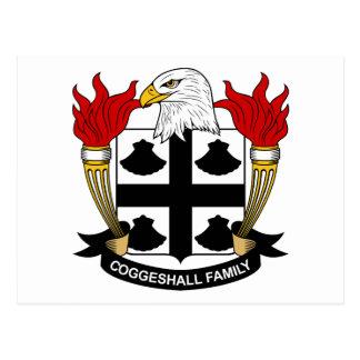 Escudo de la familia de Coggeshall Postales