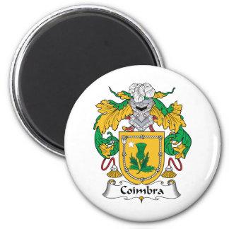 Escudo de la familia de Coímbra Imán Redondo 5 Cm