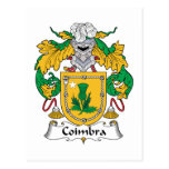 Escudo de la familia de Coímbra Postal