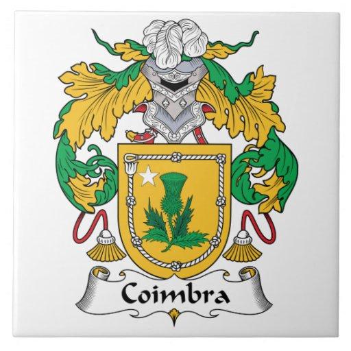 Escudo de la familia de Coímbra Teja Cerámica
