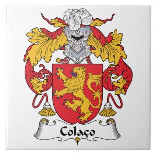Escudo de la familia de Colaco Azulejo Cuadrado Grande