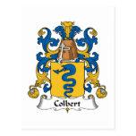 Escudo de la familia de Colbert Postal