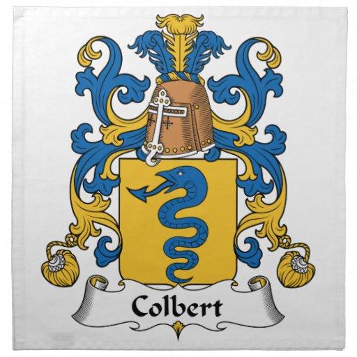 Escudo de la familia de Colbert Servilletas