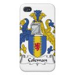 Escudo de la familia de Coleman iPhone 4 Carcasas