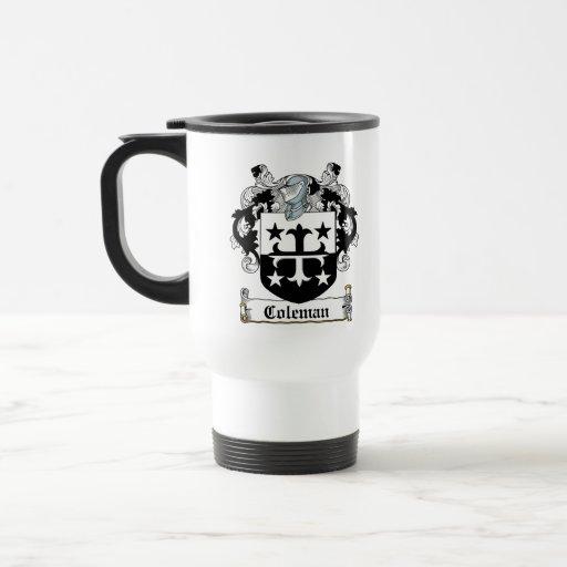 Escudo de la familia de Coleman Taza De Café
