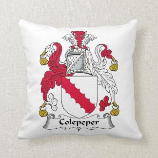 Escudo de la familia de Colepeper Almohada