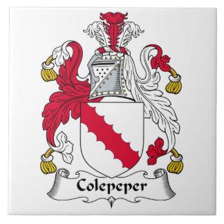 Escudo de la familia de Colepeper Azulejo Cerámica