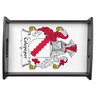 Escudo de la familia de Colepeper Bandeja