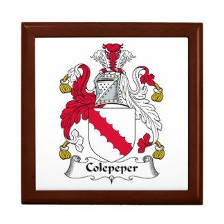 Escudo de la familia de Colepeper Caja De Joyas