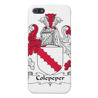 Escudo de la familia de Colepeper iPhone 5 Cárcasas