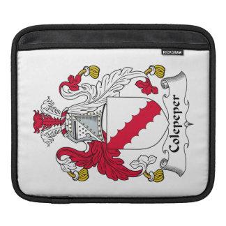 Escudo de la familia de Colepeper Funda Para iPads