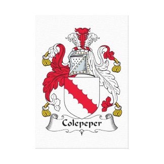 Escudo de la familia de Colepeper Impresión De Lienzo