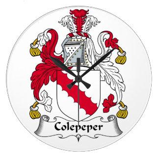 Escudo de la familia de Colepeper Relojes De Pared
