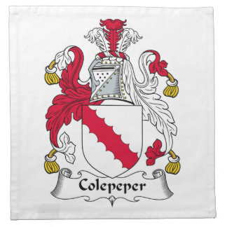 Escudo de la familia de Colepeper Servilleta