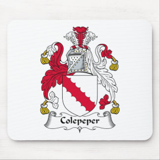 Escudo de la familia de Colepeper Alfombrillas De Ratón