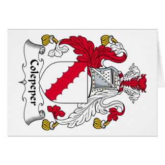 Escudo de la familia de Colepeper Tarjeta