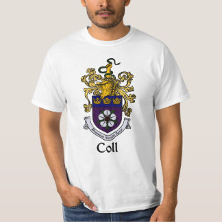 Escudo de la familia de Coll/camiseta del escudo Camisas