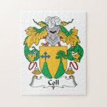 Escudo de la familia de Coll Puzzles Con Fotos