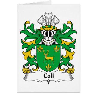 Escudo de la familia de Coll Tarjeta De Felicitación