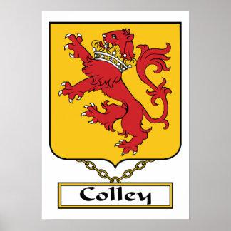 Escudo de la familia de Colley Póster