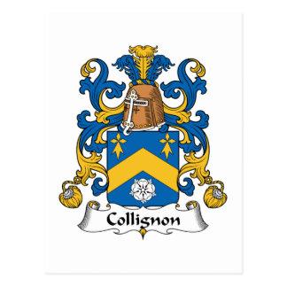 Escudo de la familia de Collignon Postal