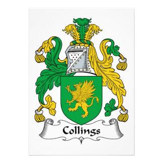 Escudo de la familia de Collings Anuncio