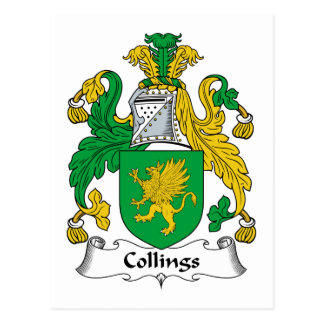 Escudo de la familia de Collings Postal