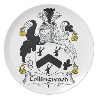 Escudo de la familia de Collingwood Platos