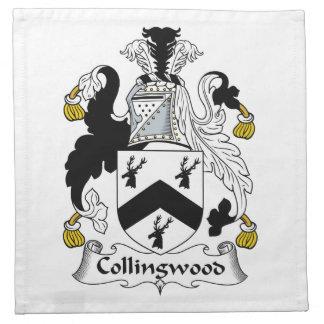 Escudo de la familia de Collingwood Servilleta Imprimida