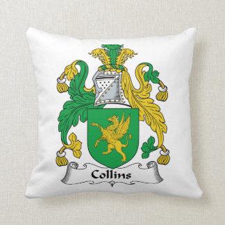 Escudo de la familia de Collins Almohada