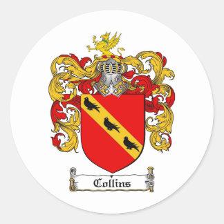 ESCUDO DE LA FAMILIA DE COLLINS - ESCUDO DE ARMAS  ETIQUETA