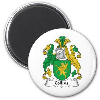 Escudo de la familia de Collins Imán Redondo 5 Cm