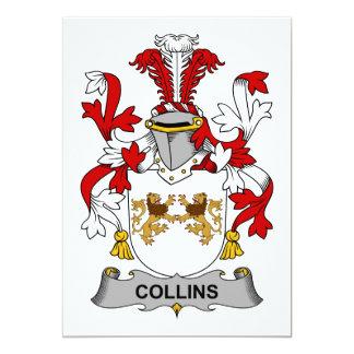 """Escudo de la familia de Collins Invitación 5"""" X 7"""""""