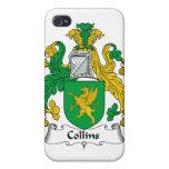Escudo de la familia de Collins iPhone 4/4S Funda