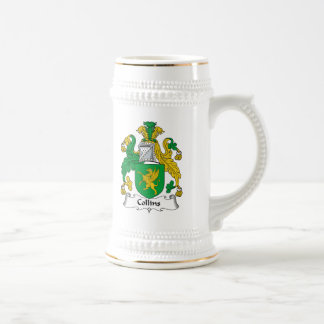Escudo de la familia de Collins Jarra De Cerveza