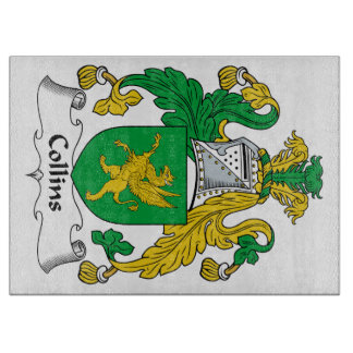 Escudo de la familia de Collins Tablas De Cortar