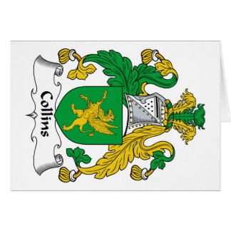 Escudo de la familia de Collins Tarjeta De Felicitación