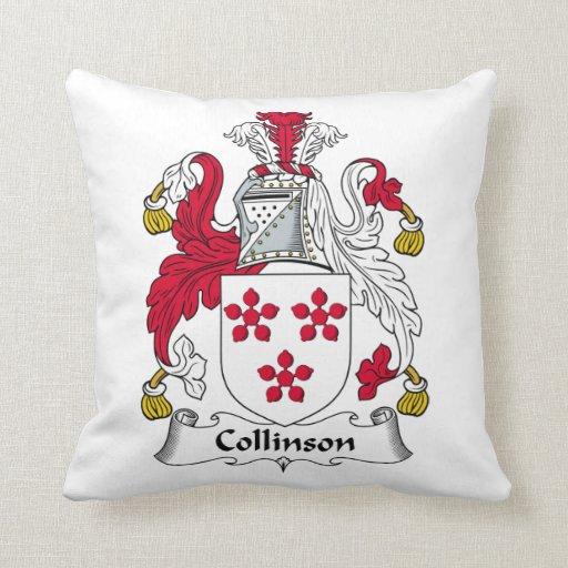 Escudo de la familia de Collinson Cojin