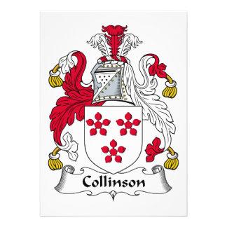 Escudo de la familia de Collinson Comunicado Personal