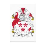 Escudo de la familia de Collinson Lienzo Envuelto Para Galerias
