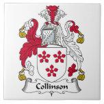 Escudo de la familia de Collinson Teja Cerámica
