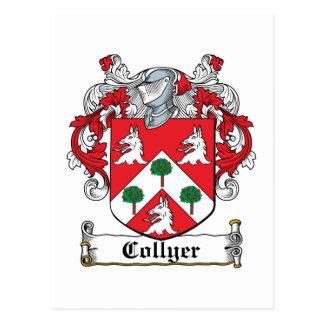 Escudo de la familia de Collyer Postal