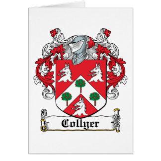 Escudo de la familia de Collyer Tarjeta De Felicitación