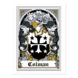 Escudo de la familia de Colman Postal