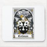 Escudo de la familia de Colman Tapete De Ratón