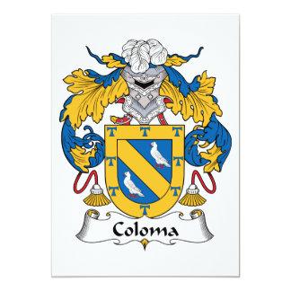 Escudo de la familia de Coloma Invitacion Personal