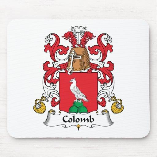 Escudo de la familia de Colomb Alfombrilla De Ratones