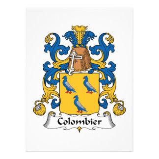 Escudo de la familia de Colombier Invitacion Personalizada